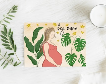 Expecting Mom Card, New Mama Card, Pregnancy Card, Hey Mama Card, Mother's Day Card, Congratulations Pregnancy Card