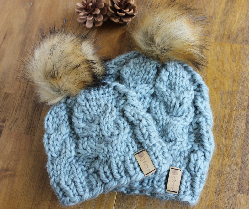 Baby Boy Winter Hat Baby Girl Winter Hat Mommy and Me Arctic Blue SHOWN