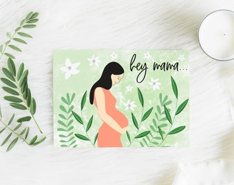 Expecting Mom Card, Pregnancy Card, New Mama Card, Mom To Be Card, Mother's Day Card, New Baby Congratulations Card, You Got This Card