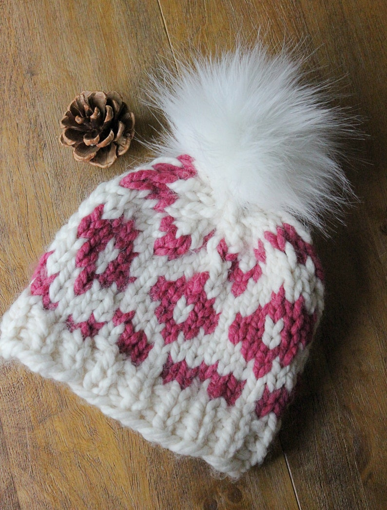Baby Girl Winter Hat Fur Pom Pom Hat Baby Faux Fur Pom Hat image 0