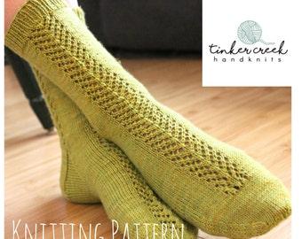 Knitting Pattern for Socks, Knit Socks Pattern, PDF Knitting Pattern, Instant Download, Knitting Pattern Socks