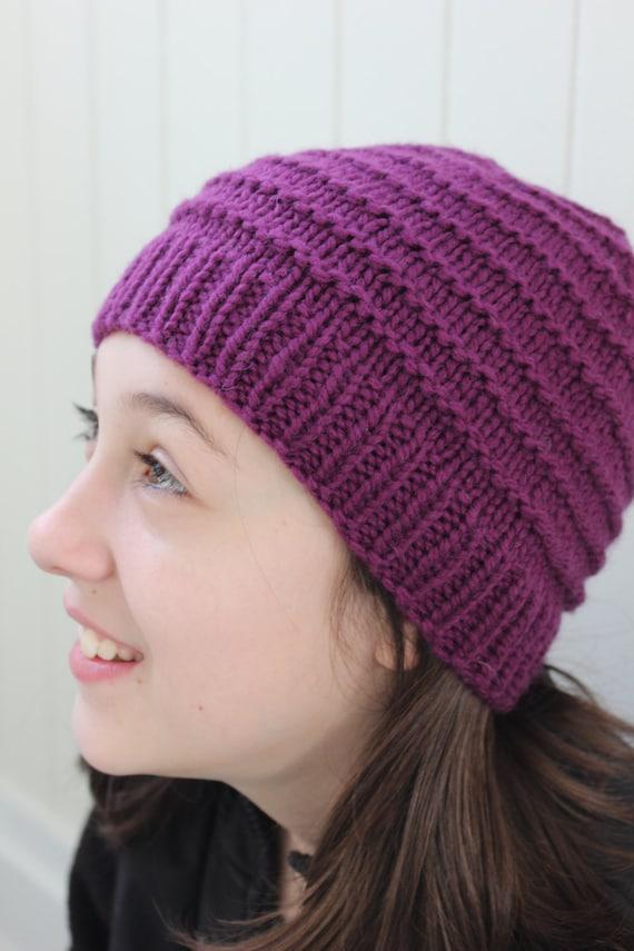Child Hat Pattern Beanie Pattern Knitting Pattern Easy Etsy