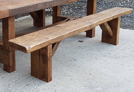 Magnificent Dining Bench Rustic Bench Solid Wood Reclaimed Timber Dining Table Bench Dining Seating Uwap Interior Chair Design Uwaporg