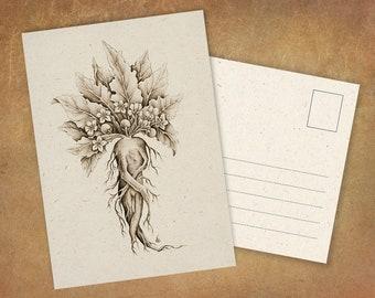 "Postcard ""Mandragora"" | Printed On High Quality Recycling Paper"