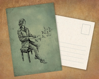 """Postcard """"The Composer"""" 
