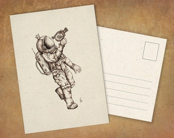 """Postcard """"Kino Cosmonaut"""" 