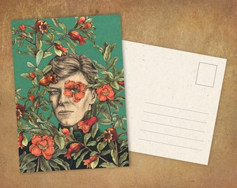 """Postcard """"The Color of Pomegranates"""" 