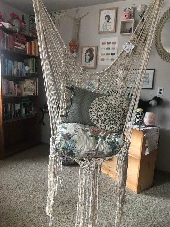 Peachy Library Macrame Swing Bohemian Swing Chair Macrame Hammock Macrame Chair Hippie Swing Chair Bohemian Bedroom Decor Modern Macrame Ocoug Best Dining Table And Chair Ideas Images Ocougorg