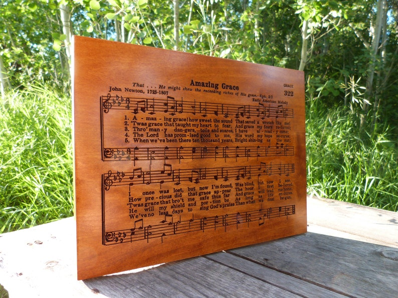 Amazing Grace Best Loved Hymn Wooden Carving Page 322 Style 4