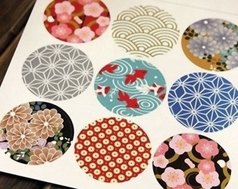 Stickers with Japanese designs