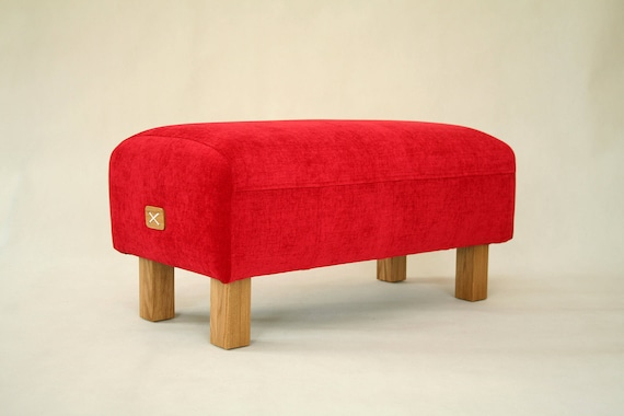 Marvelous Upholstered Ottoman Red Bench Upholestered Bench Pouf Ottoman Entryway Bench Seat Furniture Chair Mysamshop Gmtry Best Dining Table And Chair Ideas Images Gmtryco