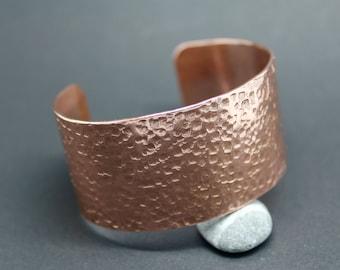 Copper cuff, hammered copper cuff, wide copper cuff, copper bangle cuff, copper jewellery, copper cuff bangle, festival jewellery