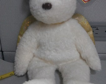 31b05f3f82b Ty Beanie Buddies Halo 2 the white angel bear with gold wings and halo