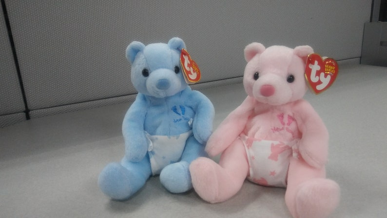 8e78cd2da24 Ty Beanie Babies It s a Boy and Girl blue and pink two