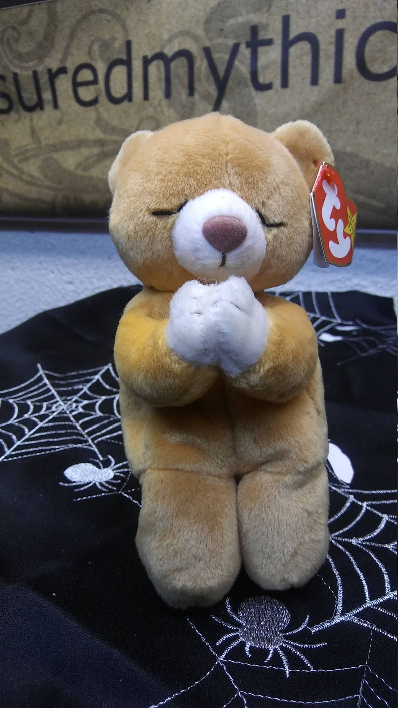f4cc61f8152 Ty Beanie Babies HOPE the amber and white praying bear