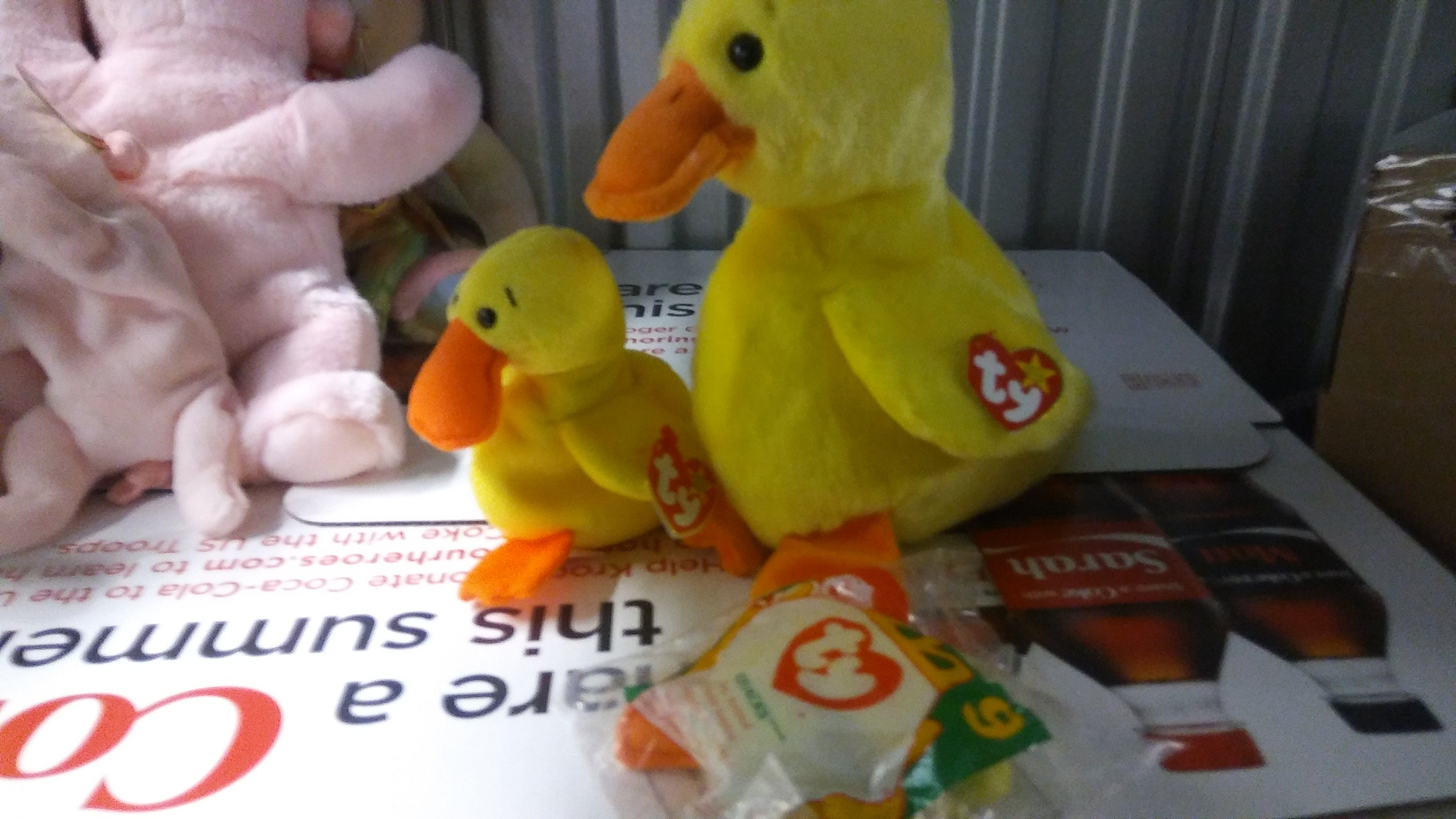 Ty Beanie Babies and Buddies Quackers the yellow duck 2 piece  0371223ded2