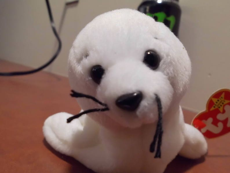 Toy SEAL the White Seal TY Beanie Buddy seamore