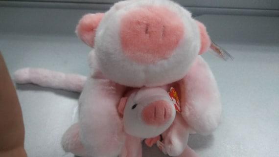9b4a2d3590a Ty beanie babies and buddies Squealer the pink pig 2 piece set