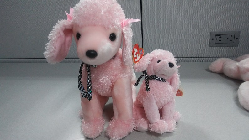 cc496158b53 Ty Beanie babies and buddies Brigitte the pink poodle 2 piece