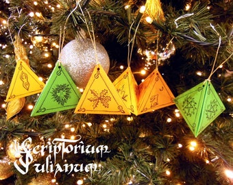 Wicca Christmas.Yule Decorations Yule Tree Ornaments Wiccan Decor Pagan Etsy