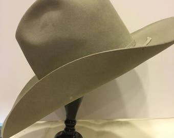 df47d8acb08 Resistol Vintage Western Hat Cowboy  7-Bar Western Wear Temple