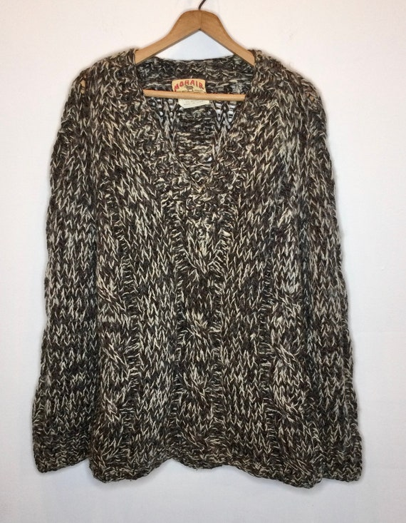 Cable Knit Mohair Sweater Made in Italy