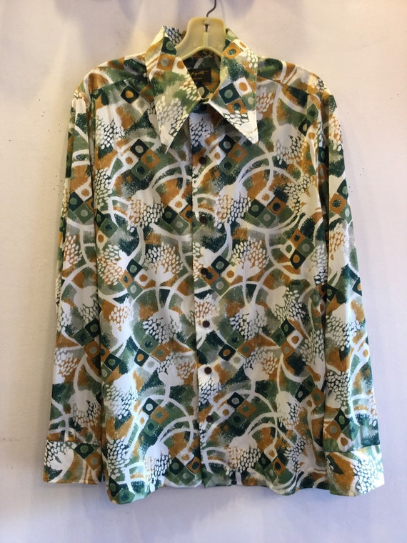 1970's Disco Shirt Mens Tag Size L