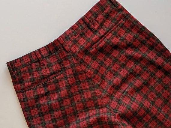 Plaid Farah Mens Trouser Pants 1970s Deep Green a… - image 6