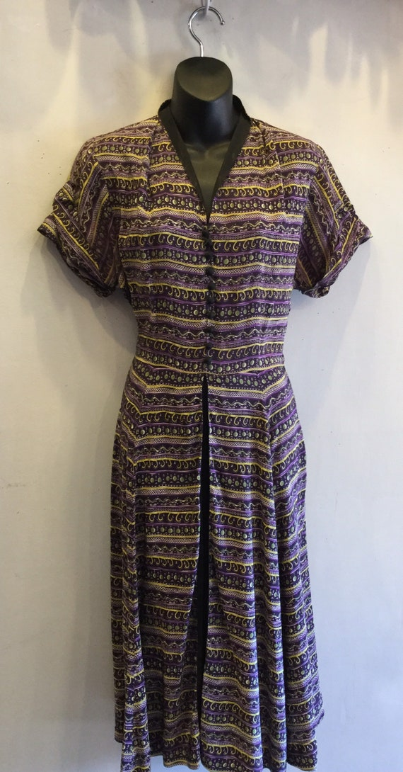 1940s Rayon Dress Mode O'Day Styled in California