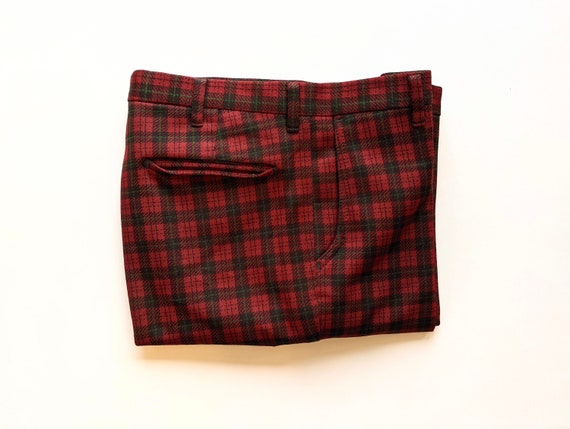 Plaid Farah Mens Trouser Pants 1970s Deep Green a… - image 7