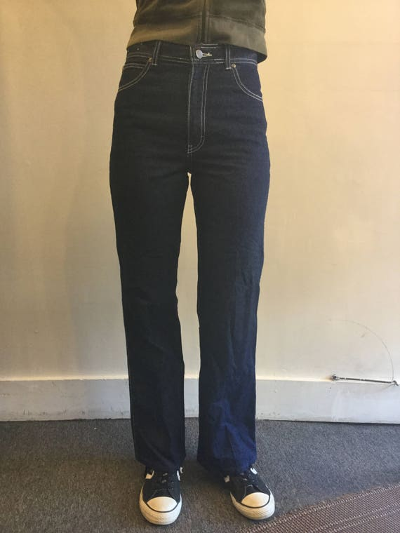 Seattle Blue Denim Jeans Vintage 1970s High Waist - image 2