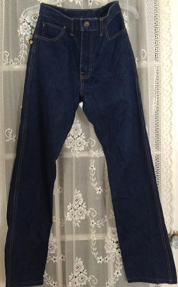 Sasson Dark Denim Jeans High Waisted  1970's Tag S