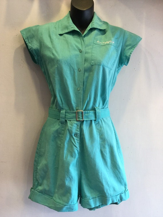 School Gym Suit Romper with Belt 1950's by Moore S
