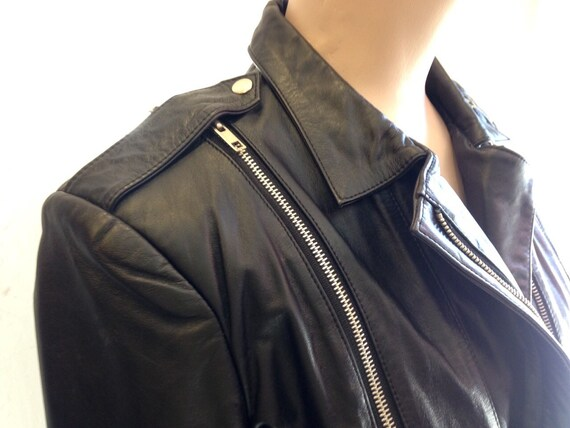 Punk Leather Jacket Black Wilson's 1980's with Sid