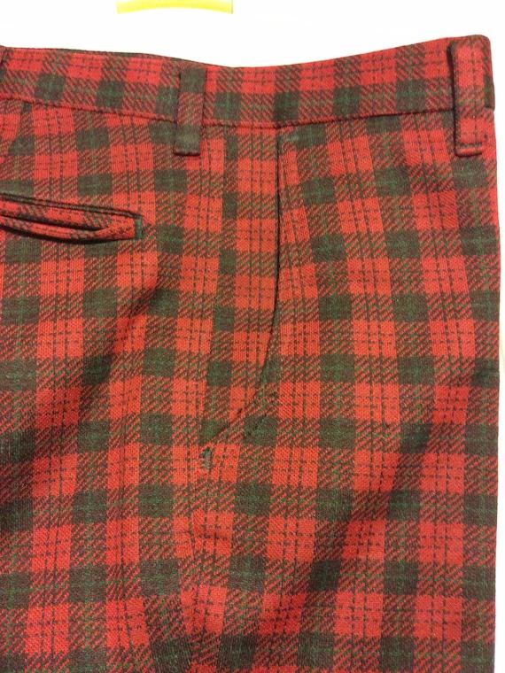 Plaid Farah Mens Trouser Pants 1970s Deep Green a… - image 9