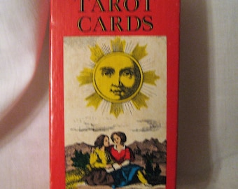 Vintage Tarot Cards AG Muller Red Box 78 Card IJJ Deck Switzerland Made Instructions Included 1970 Man Cave Decor Unique Gift