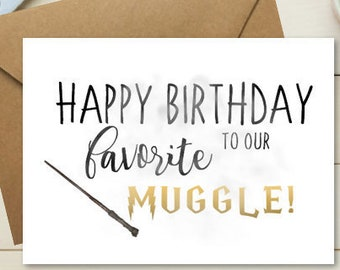Birthday Card Harry Potter For Him Theme Cute HimLove