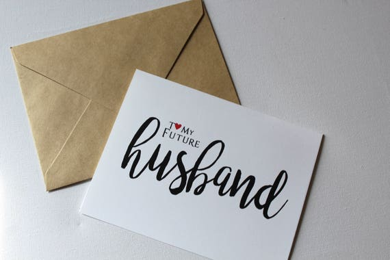 To My Future Husband Husband Card Card For Him Wedding Day Etsy