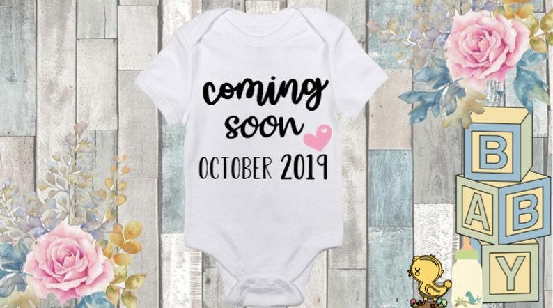 Baby Announcement Onesie Coming Soon Onesie Announcement Onesie,Unisex Baby Clothes Personalized Onesie Custom Name Onesie Baby Shower