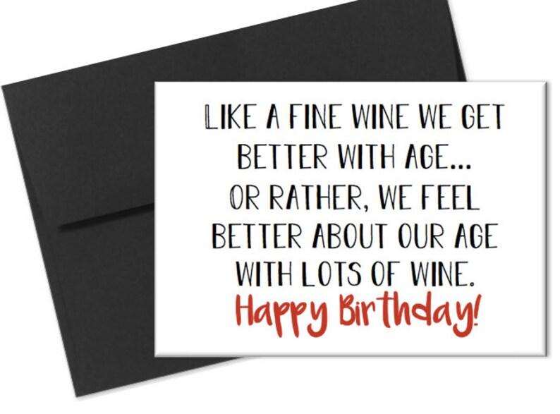 Happy Birthday Card Wine Birthday Card Naughty Birthday Card y Husband Card Boyfriend Card