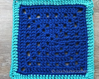 Solid Spaces Crochet Square Pattern / Crochet Square Pattern / Granny Square Pattern / Granny Square Crochet