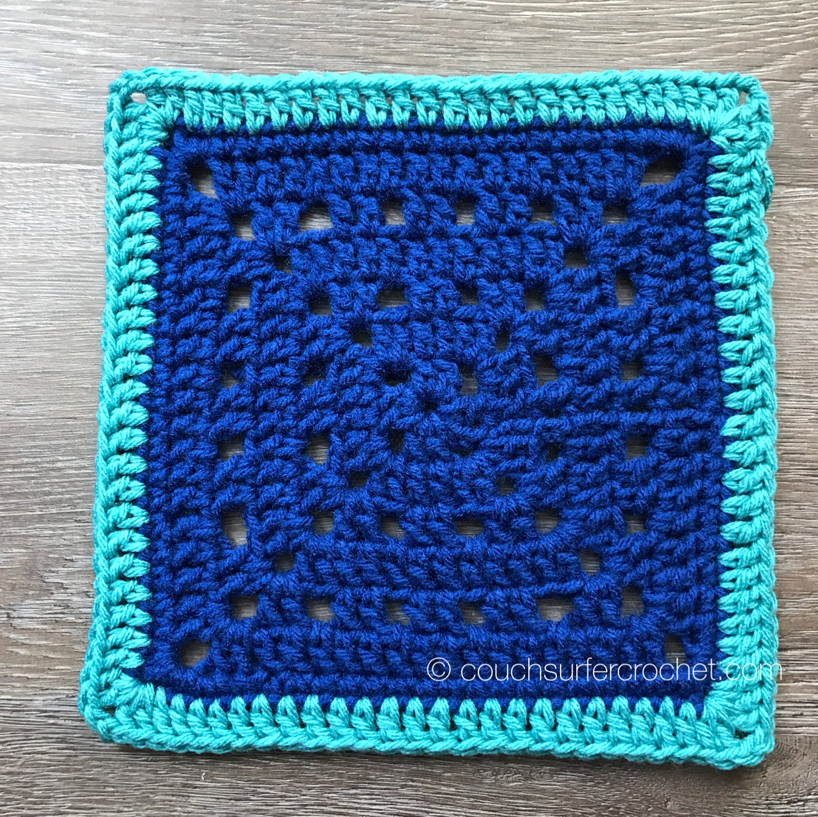 Crochet Pattern Solid Spaces Crochet Square Pattern Etsy