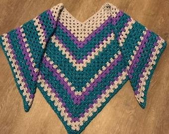 Crochet Pattern / Sparkly Serape Poncho Pattern / Crochet Poncho Pattern / Crochet Serape Pattern / Crochet Pullover Pattern