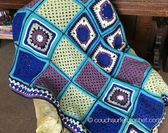Hip to be Square Crochet Blanket Pattern / Crochet Blanket Pattern / Crochet Along / Blanket Pattern / Granny Square Crochet Pattern