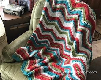 Crochet Pattern / Chevron Blanket Pattern / Changing Chevrons Blanket / Chevron Blanket / Crochet Patterns / Crochet Blanket Pattern