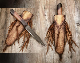 Primitive Custom hand forged mountain man knife, Rustic bushcraft knife, western art, made in the USA