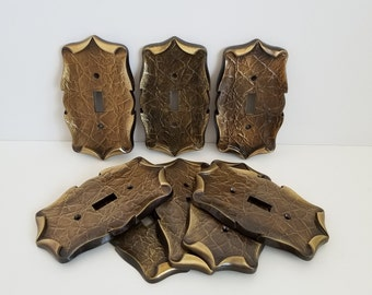 Basketweave Antique Copper  Switch Plates Wall Plates /& Outlet Covers