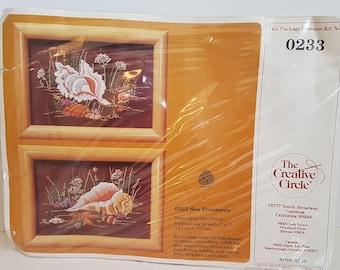 Vintage Creative Circle Kit No 0233, Sea Treasures, Designed by Jan Dalton