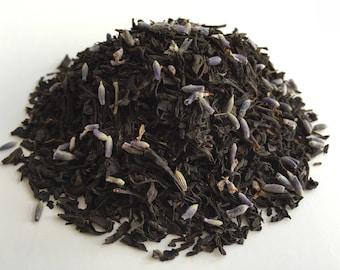 Organic EARL GRAY BLACK Tea with lavender buds- Fresh, All Natural Ingredients, Premium Tea 2oz.