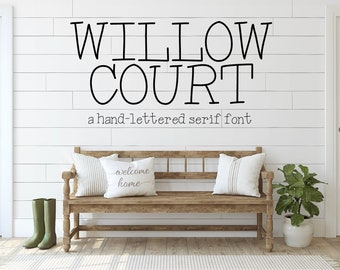 Serif Font, Farmhouse Font, Crafting Font, Commercial Use Font, OTF Font, Willow Court Font, Nap Time Alternative, Handwritten Font